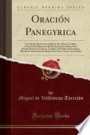 libro Oración Panegyrica
