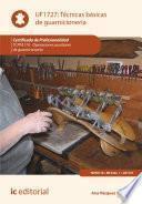 libro Técnicas Básicas De Guarnicionería. Tcpf110