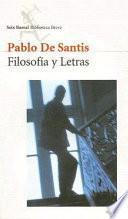 libro Filosofía Y Letras